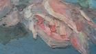 Ваза с Розами 40-30 см., картон, масло 1958 год  - 1