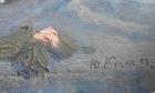 Ваза с Розами 40-30 см., картон, масло 1958 год  - 2