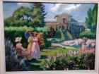 Дамы в саду 61-46 см., холст, масло 1998  - 1