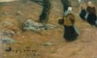 Жены рыбаков 20,5-14,6 см., холст на картоне, масло 1924  - 1