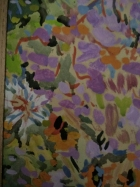 Цветочная экспрессия 47-34 см., ватман, гуашь, темпера 1976 год  - 1