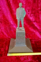 Скульптура Ленин на постаменте, материал бронза, высота 35 см., ширина 20 см., длина 20 см. - 10
