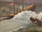 Гуллер Ю. Буря в море, как стол,холст, масло 1953  - 3