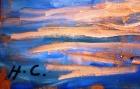 """Крым. Скала """"Парус"""" 30-40 см., картон, масло 2006  - 1"""