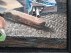 Натюрморт с пивом, колбасой, квашеной капустой и сигаретами 44-57 см., холст, масло 1960-е  - 2