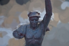Скульптура Рабочий, материал метал, высота 125 см., ширина 50 см., длина 50 см. - 5