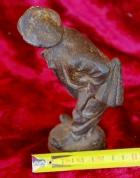 Скульптура Мужичёк, материал чугун, высота 17 см., ширина 6 см., длина 5 см. Касли - 8