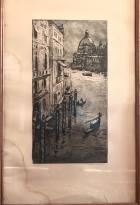 Венеция 20-35 см., бумага, гравюра 1965 год - 1