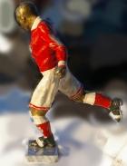 Скульптура Футбол, материал бронза, высота 29 см., ширина 7 см., длина 8,5 см. - 2