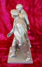 Скульптура Ленин с Дзержинским, материал метал, высота 23 см.,ширина 11 см., длина 11 см. - 1