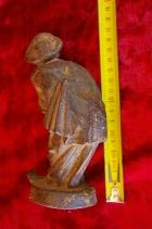 Скульптура Мужичёк, материал чугун, высота 17 см., ширина 6 см., длина 5 см. Касли - 6
