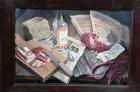 Натюрморт с салом, столичкой, рублем 40-60 см., холст, масло 1960-е 500 - 1