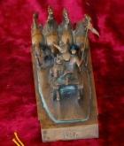 Скульптура Тачанка, материал бронза, высота 14 см., ширина 24 см., длина 11 см. - 4