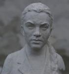 Скульптура Девушка 1976 г., материал гипс, высота 92 см., ширина 50 см., длина 40 см. - 3