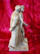 Скульптура Ленин с Дзержинским, материал метал, высота 23 см.,ширина 11 см., длина 11 см. - 2