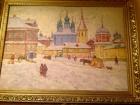 Зима 95 50-68 см. картон, масло 1985  - 1