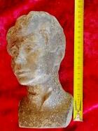 Скульптура Есенин, материал метал, высота 21 см., ширина 10 см., длина 6 см. - 6