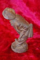 Скульптура Мужичёк, материал чугун, высота 17 см., ширина 6 см., длина 5 см. Касли - 2
