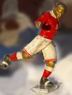 Скульптура Футбол, материал бронза, высота 29 см., ширина 7 см., длина 8,5 см. - 4