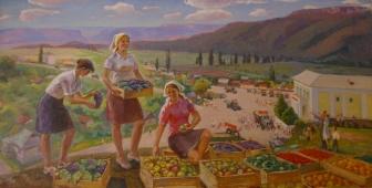 Сбор урожая 100-200 холст, масло