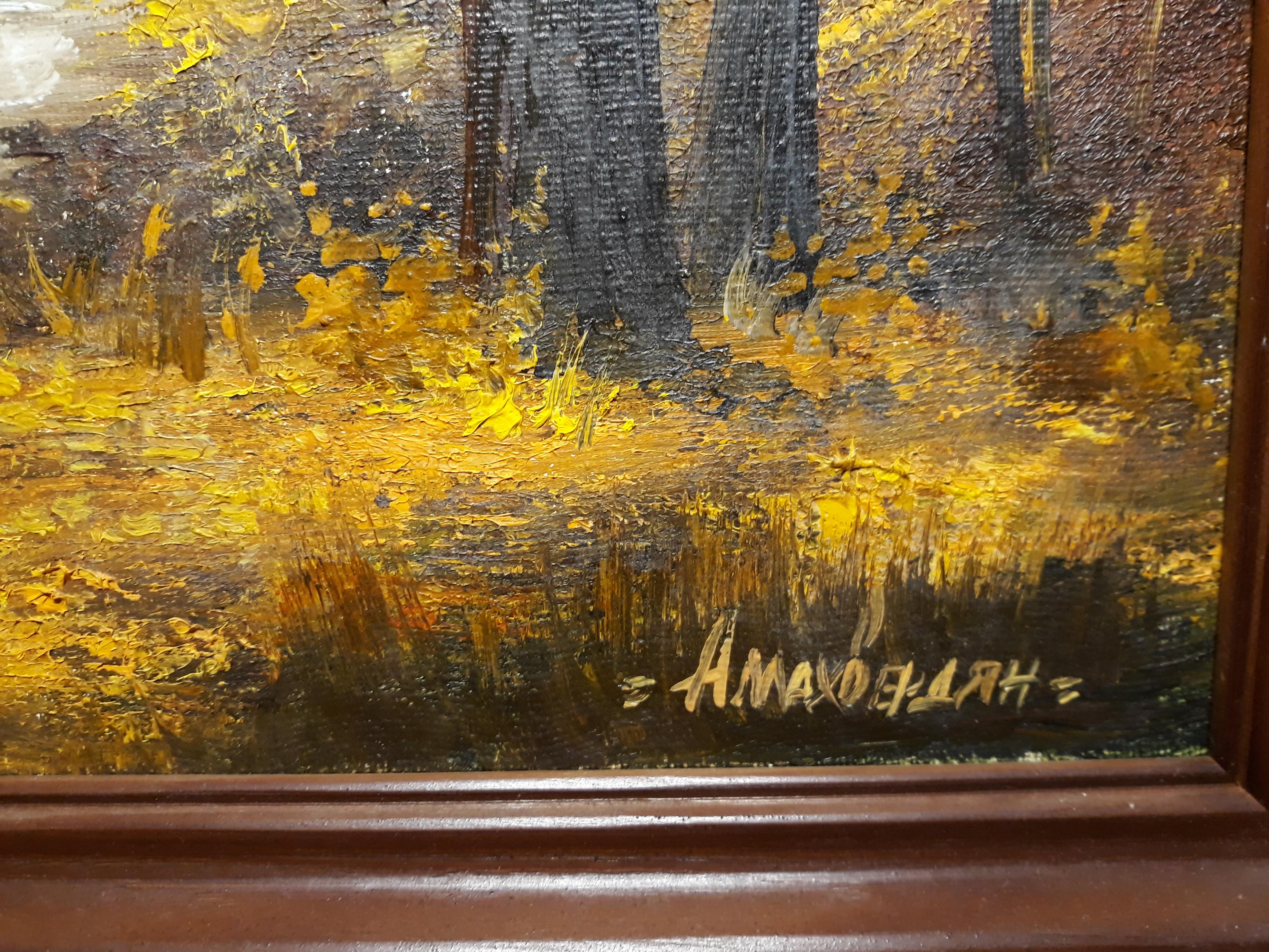 Золотая осень 40-31 см., холст, масло - 1