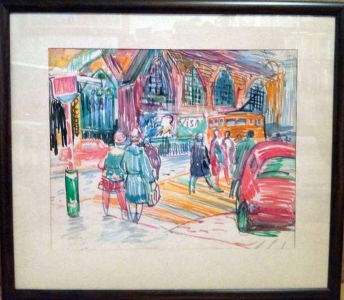 Собор Святого Николая 30-37,5 см., бумага, фломастер 1969  - 1