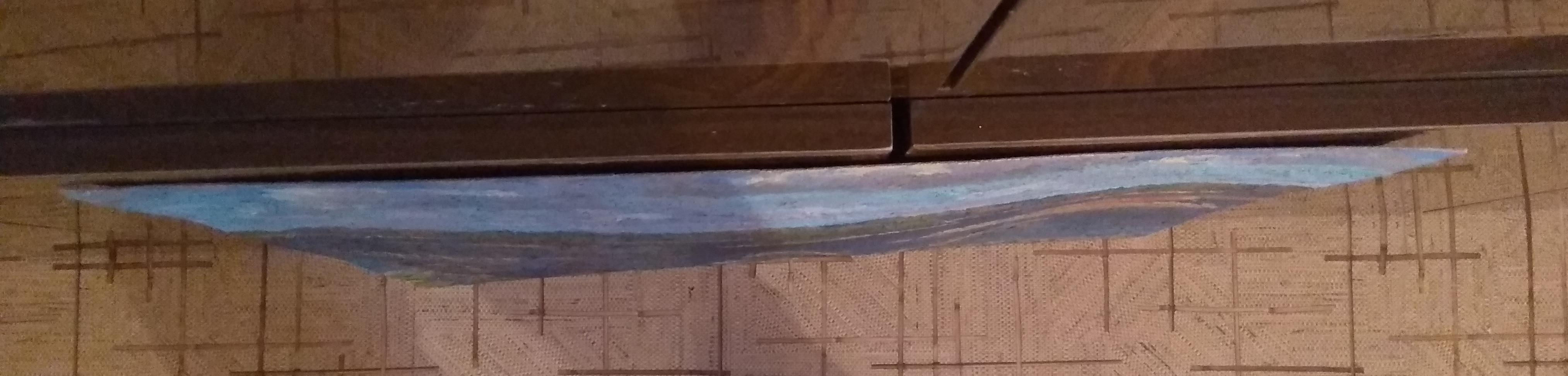 Сельский пейзаж 40-60 см., картон, масло 1969 год - 3
