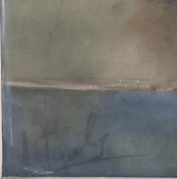 Натюрморт с виноградом 50-40 см.,бумага, акварель 1970-1980 года  - 1