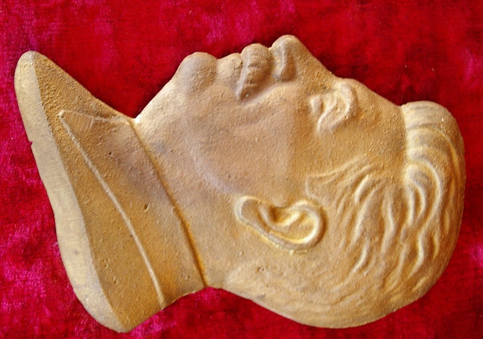 Барельеф Сталин, материал бронза , высота 13 см., ширина 7 см. - 1