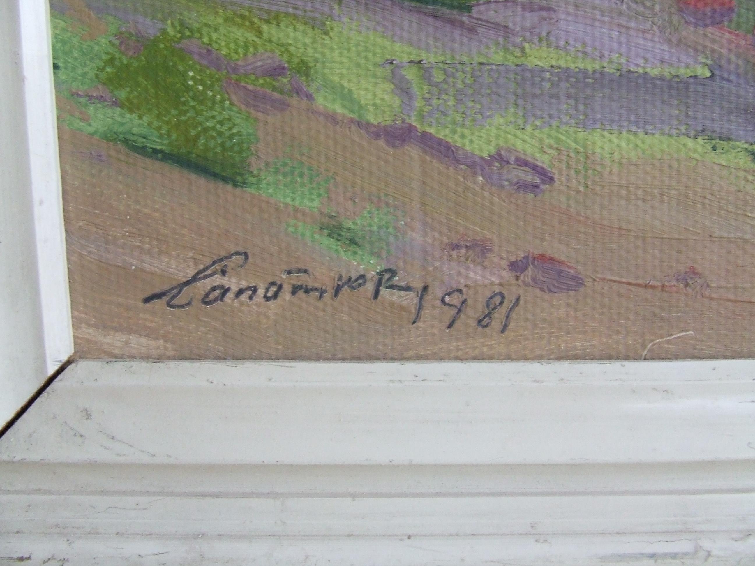 Пейзаж 50-40 см., картон, масло 1981 год  - 1