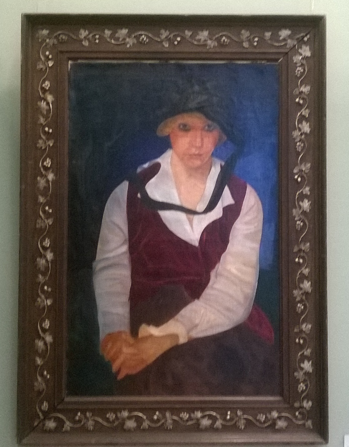 Портрет жены 1917. Холст, масло. - 2