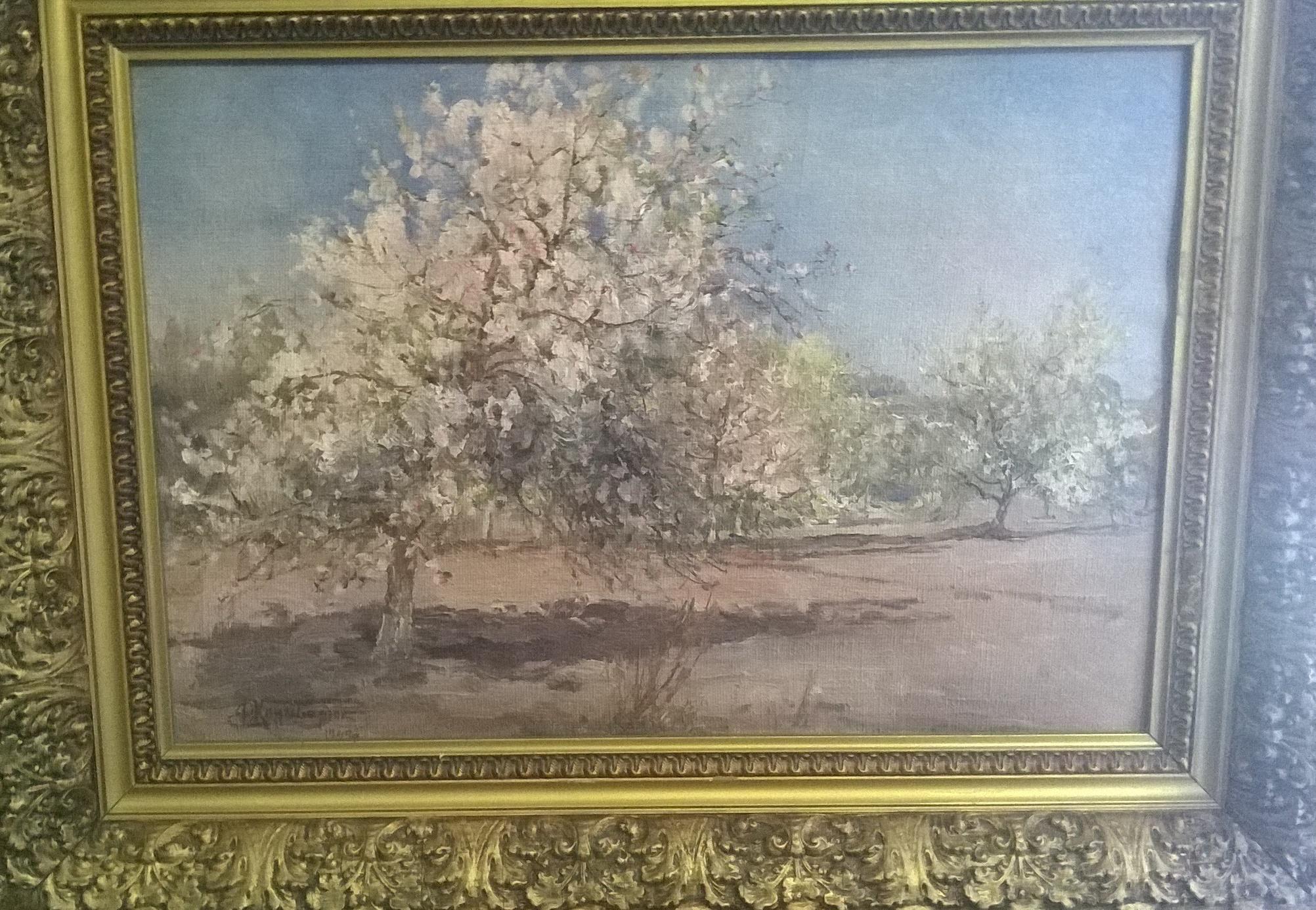 Цветет яблоня 1949. Холст, масло. - 2