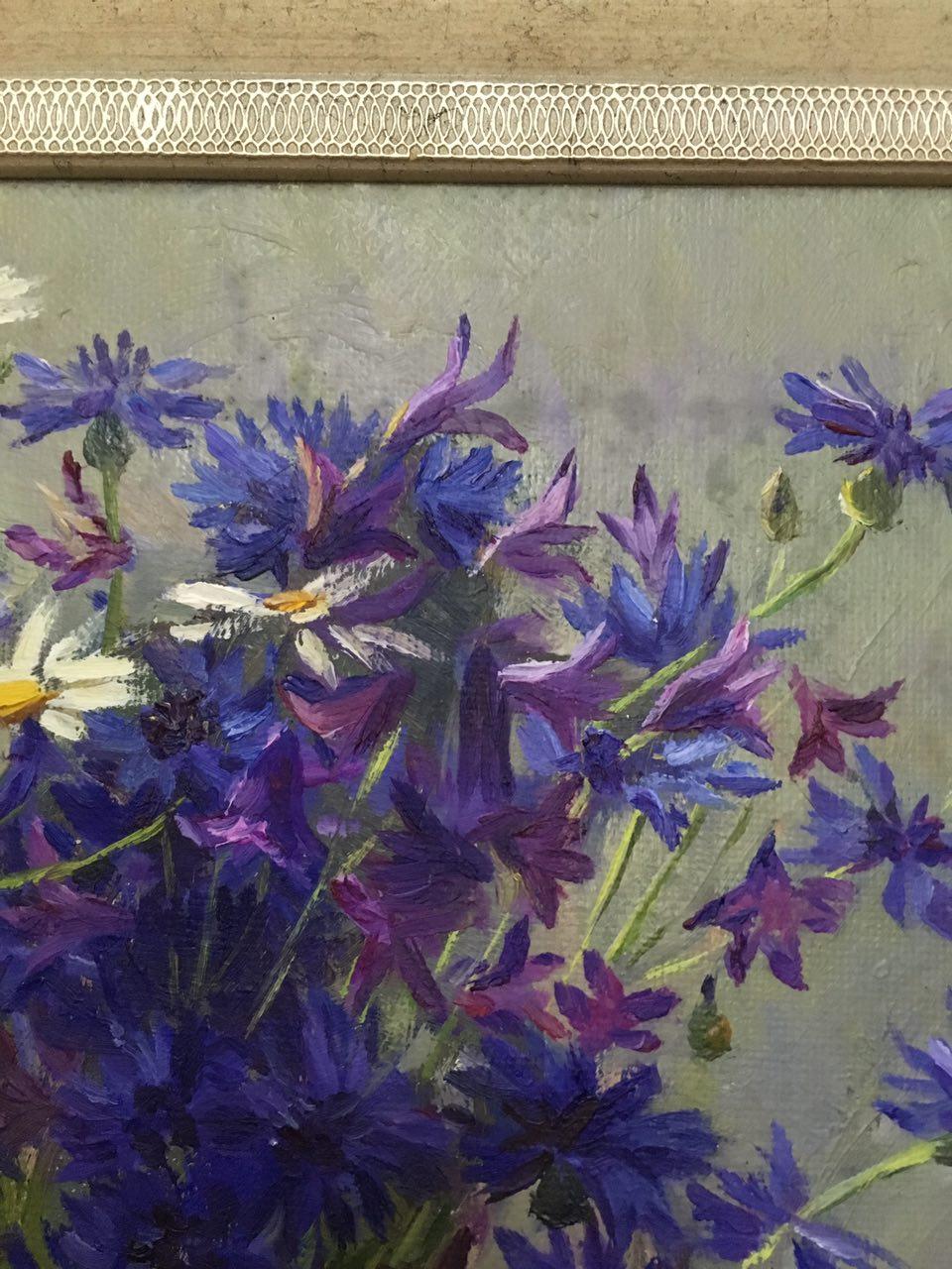 Цветочный натюрморт 40-40 см., холст, масло  - 2