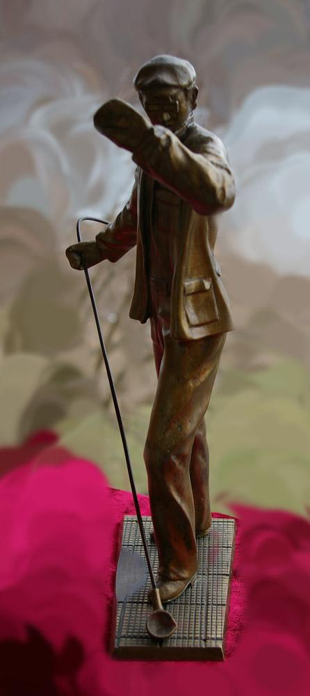 Скульптура Сталевар, материал бронза, высота 39 см., ширина 21 см., длина 9 см., 3 кг.,  - 3