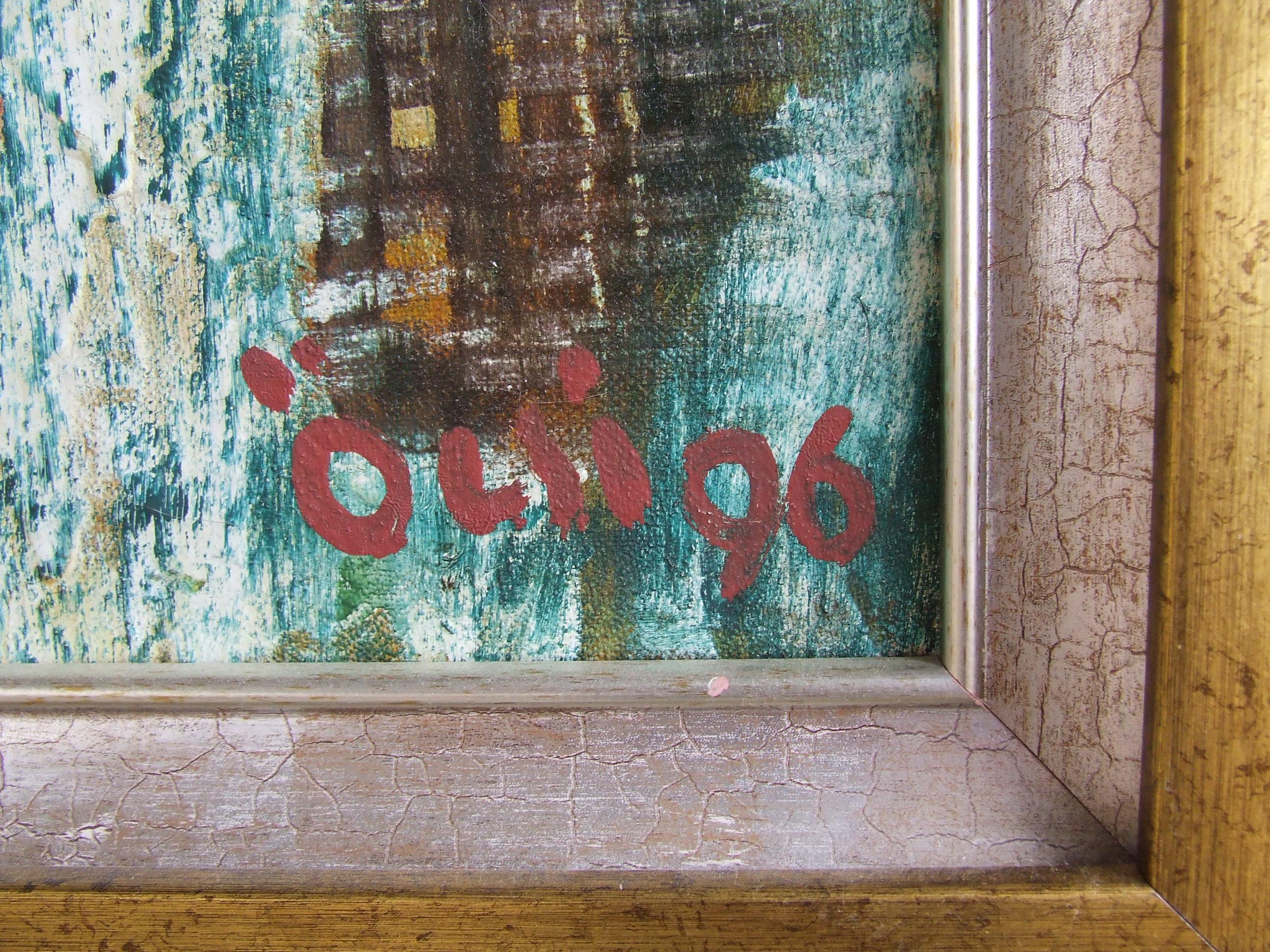 Абстракция восминог 70-60 см., холст, масло 1996 год  - 1