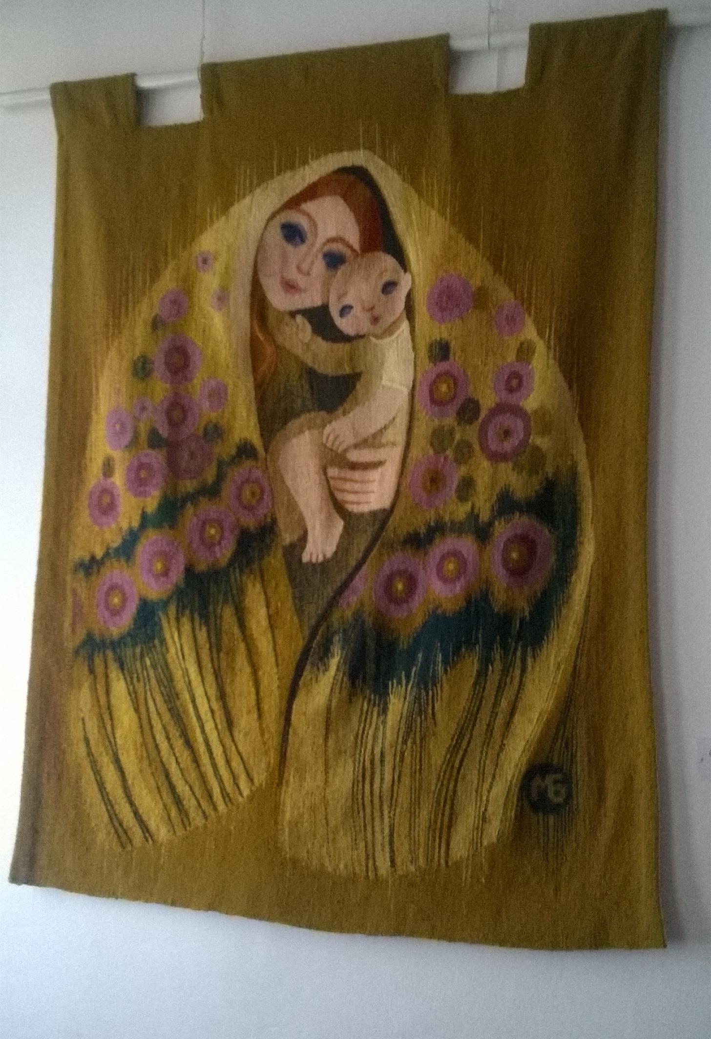 Гобелен. Бойковская мадонна, ручное ткачество, шерсть 1994 - 2