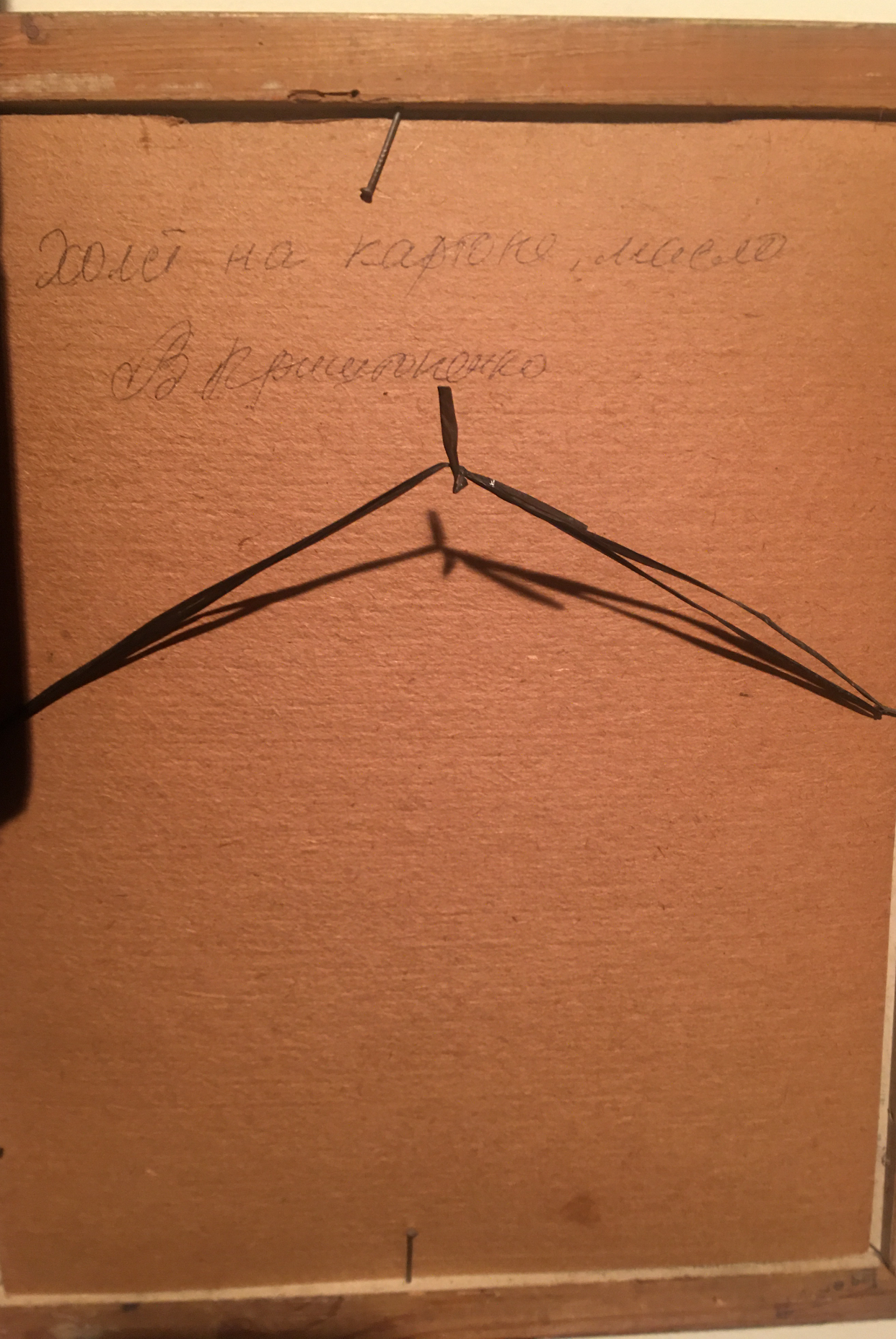 Гвоздики 35-30 см., картон, масло  - 1