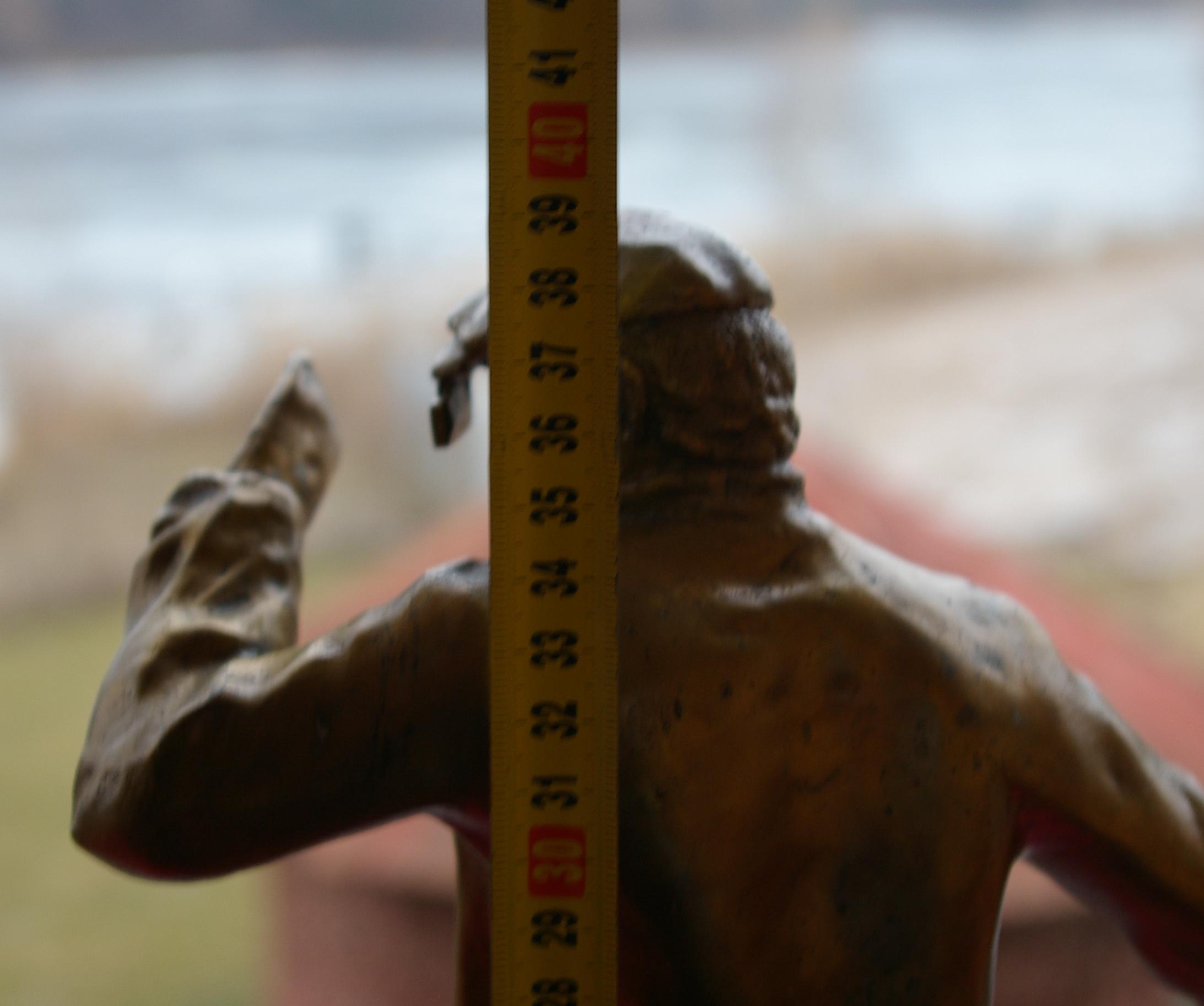 Скульптура Сталевар, материал бронза, высота 39 см., ширина 21 см., длина 9 см., 3 кг.,  - 10