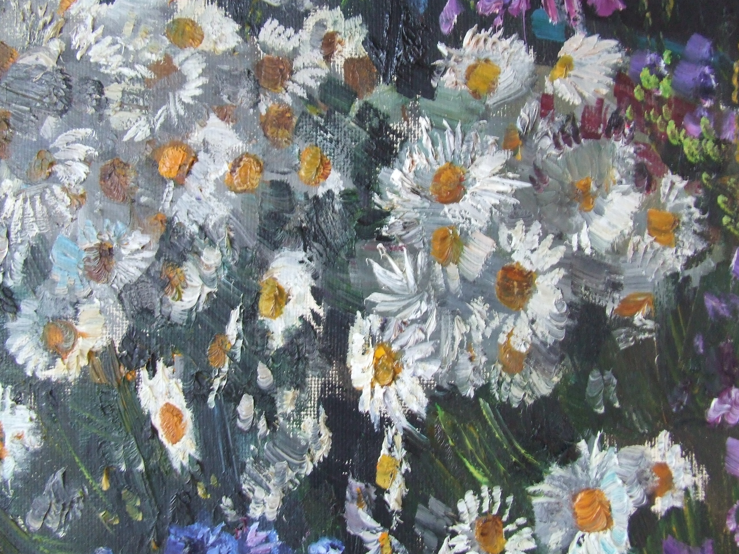 Натюрморт ваза с цветами 70-80 см., холст, масло 1981 год  - 1