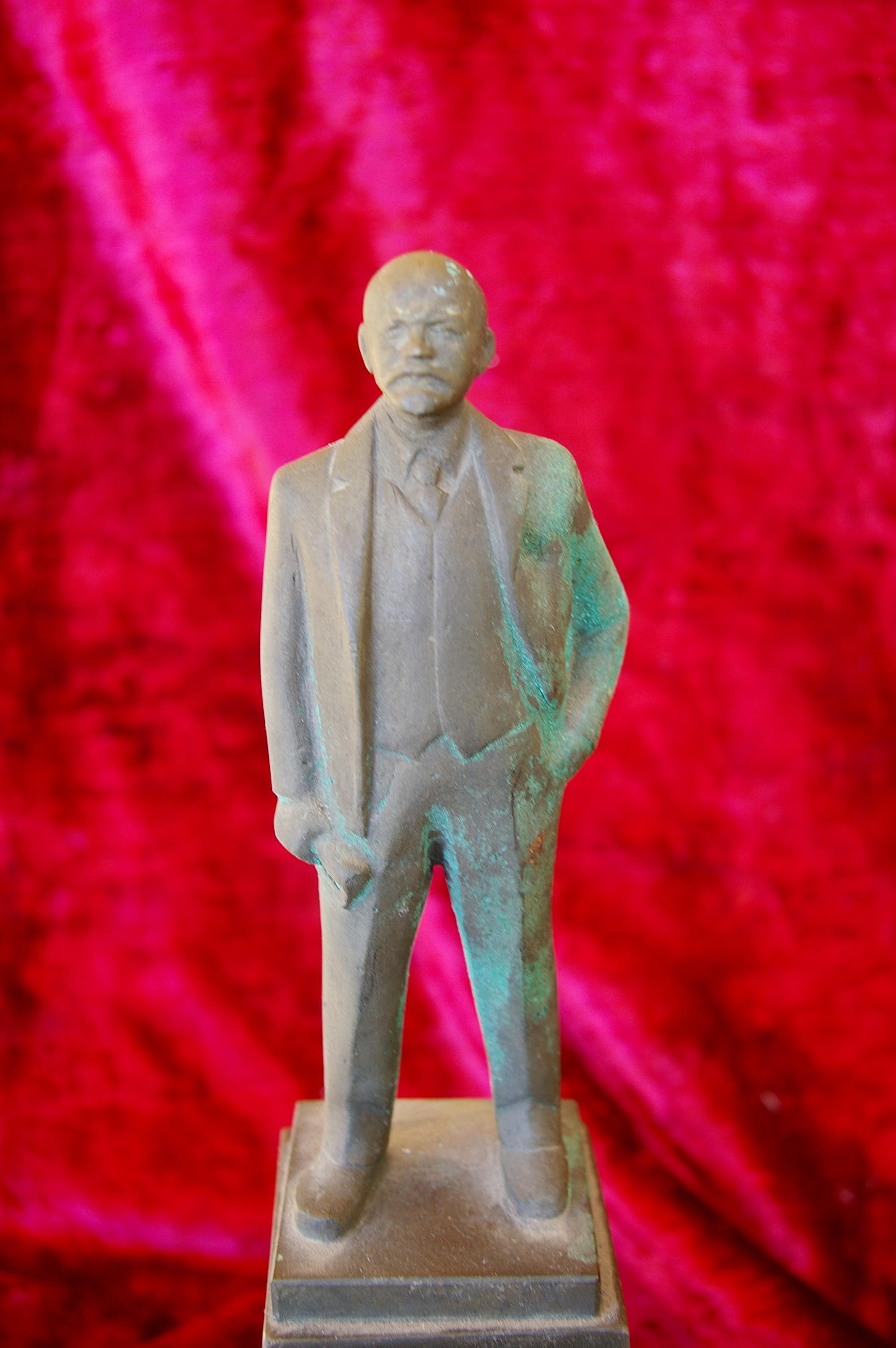 Скульптура Ленин на постаменте, материал бронза, высота 35 см., ширина 20 см., длина 20 см. - 4