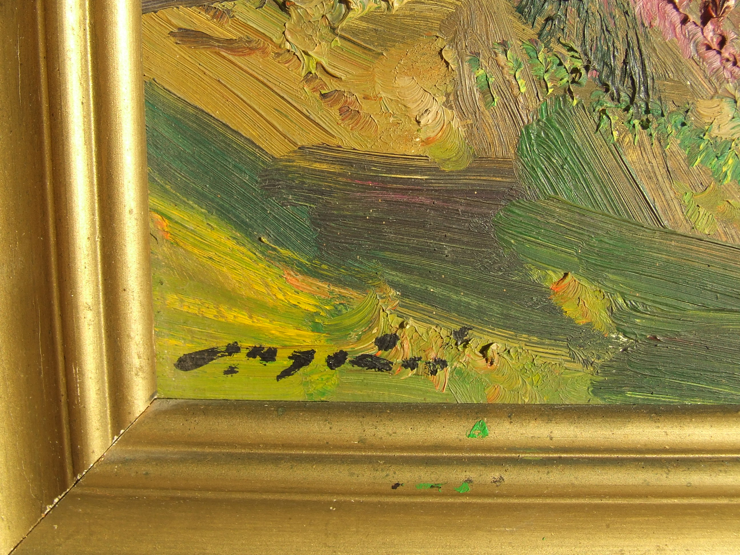 Пейзаж 55-45 см., картон, масло 1977 год  - 1