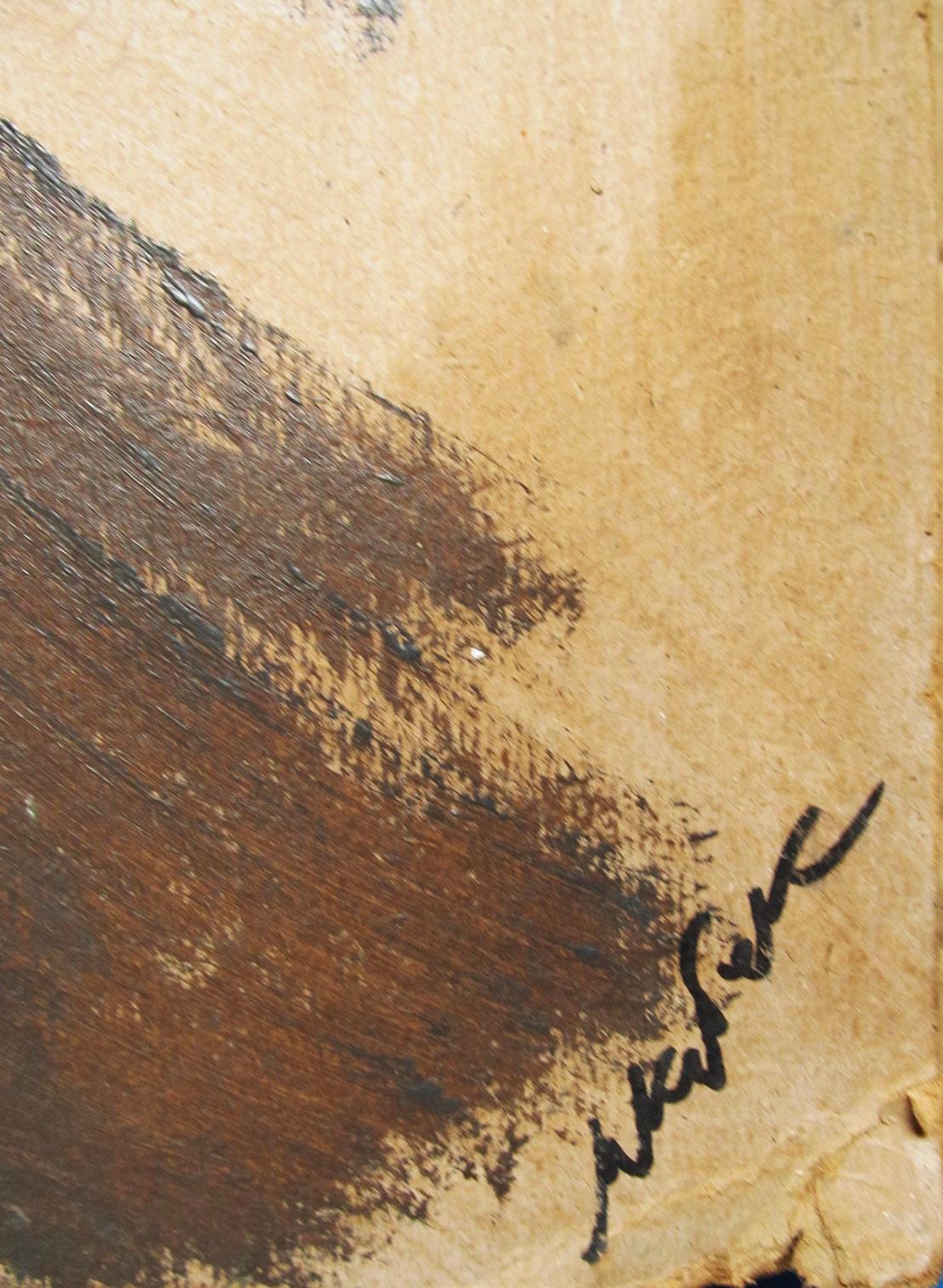 Скрипачка 73-43 см., оргалит, масло - 1