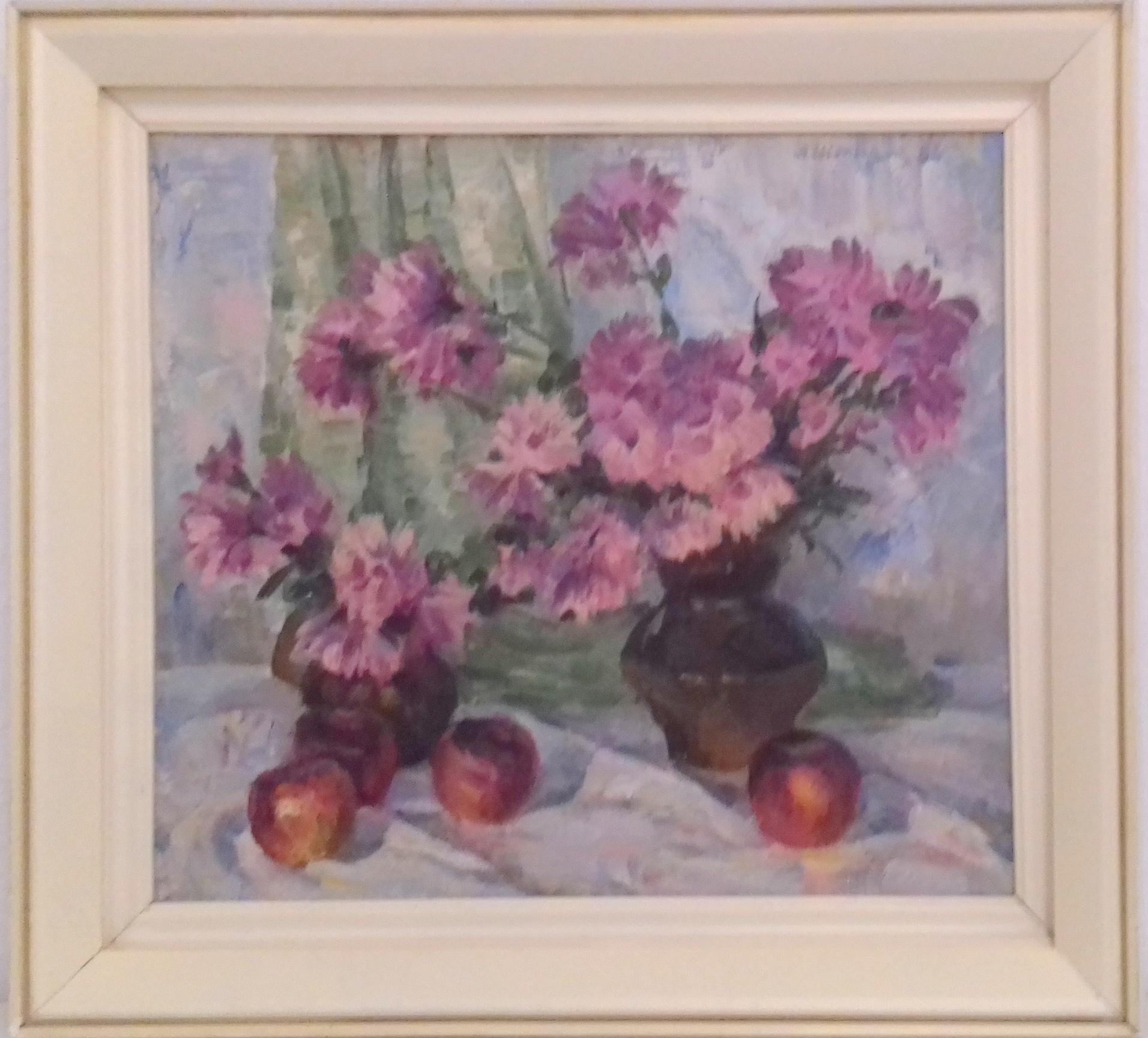 Цветы 45-50 см. холст, масло 1986  - 1