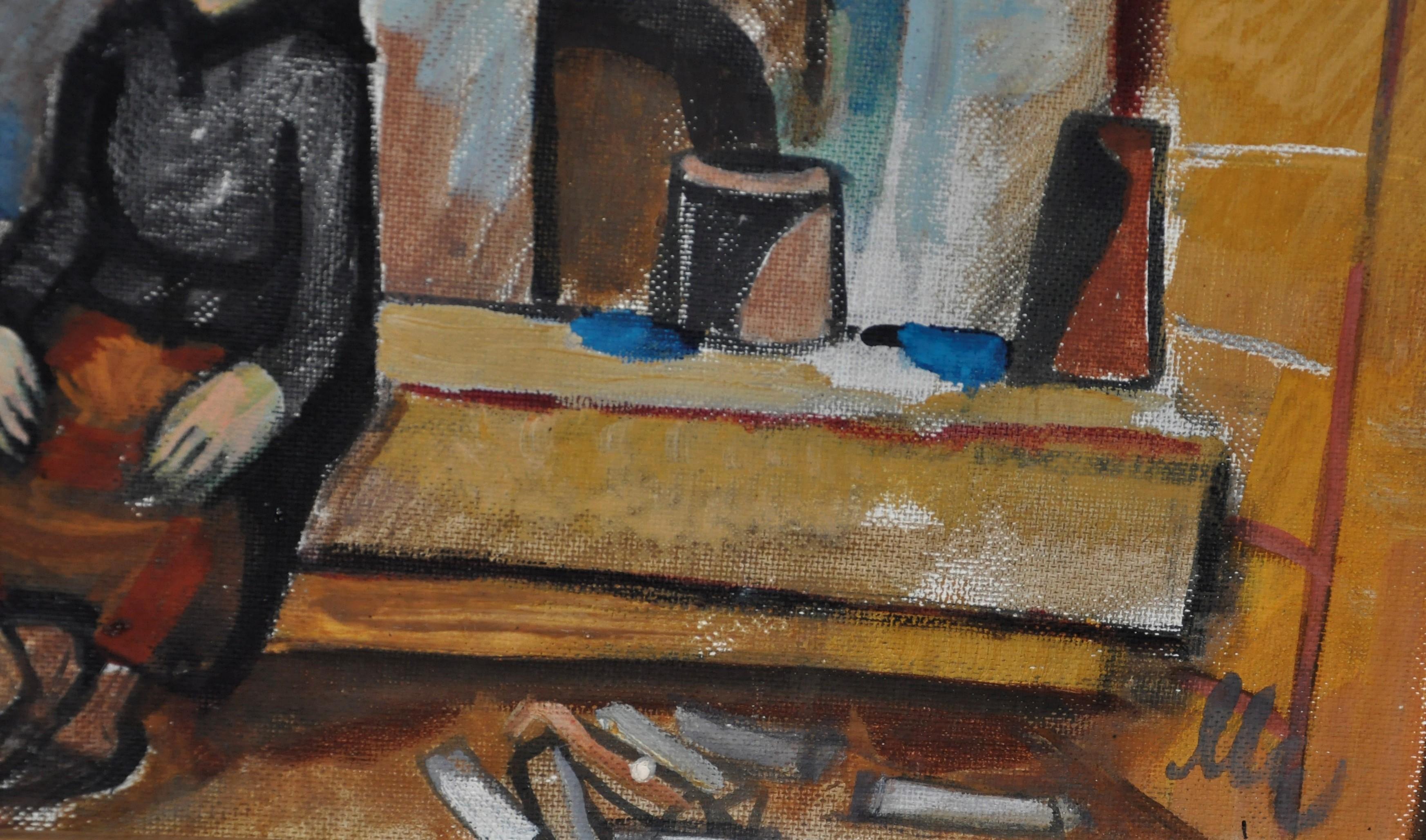 Картина - Інтерєр сільської хати 49-60 см. 1979  - 1