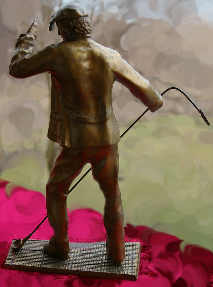 Скульптура Сталевар, материал бронза, высота 39 см., ширина 21 см., длина 9 см., 3 кг.,  - 5