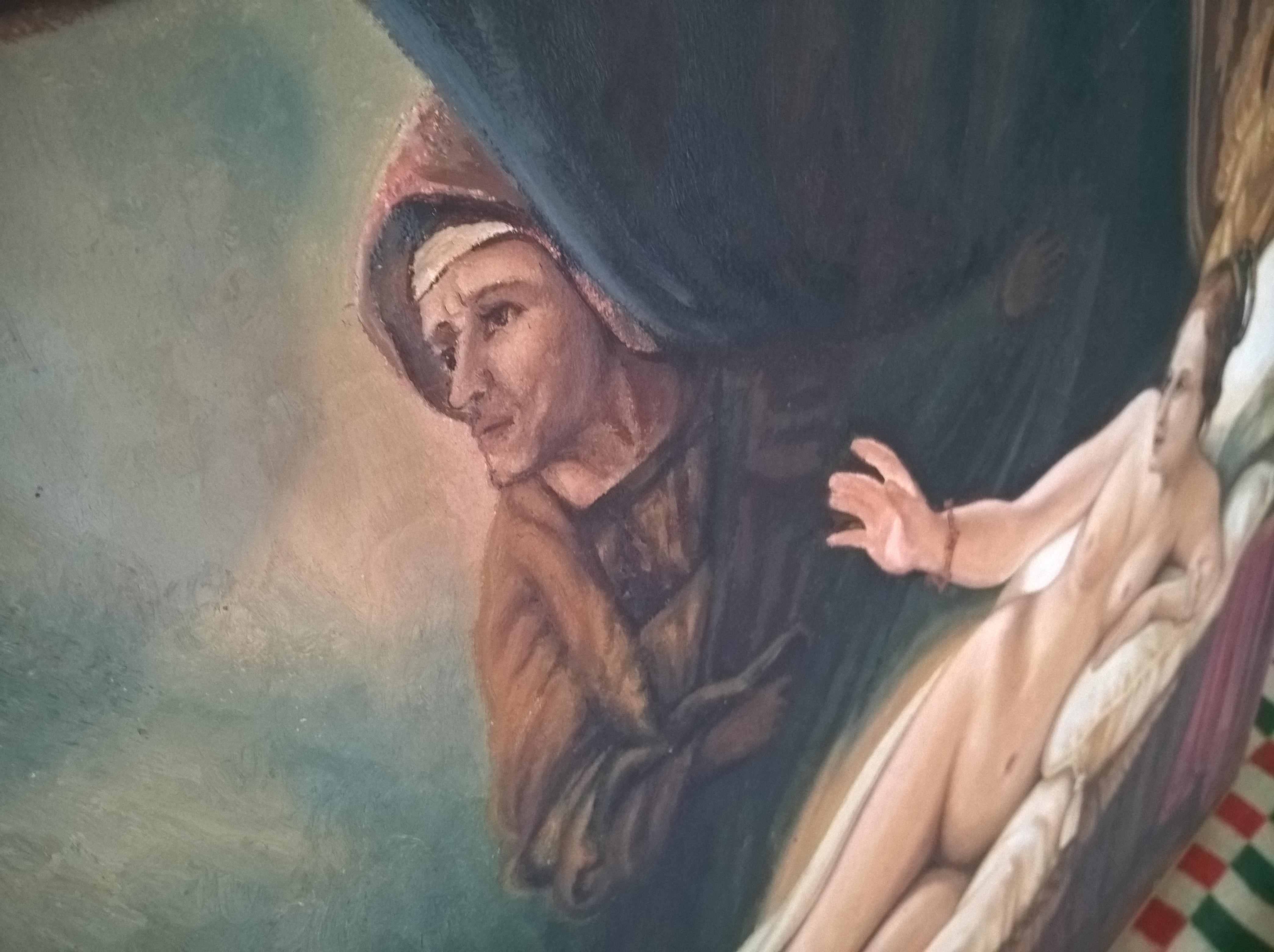 Портрет девушки 90-65 см., холст, масло  - 1