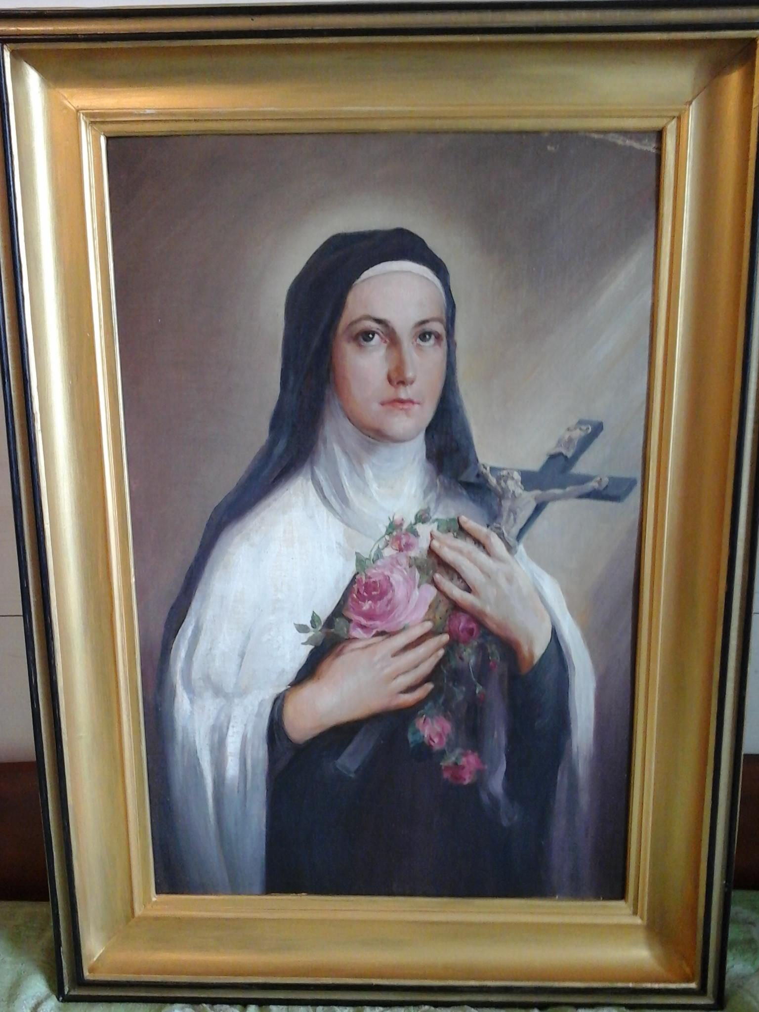 Портрет монахини 60-91 см., дерево, масло 1943  - 1