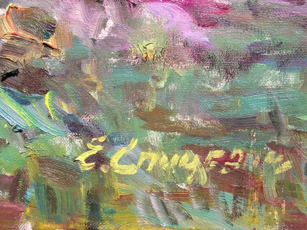 Куст пионов 55-86 см., картон, масло - 2