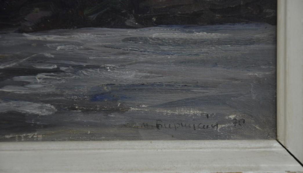 Баренцево Море 18-26 см., картон, масло  - 2