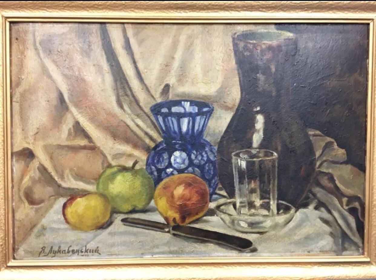 Натюрморт 53-35 см., фанера, масло 1930-1940 гг. - 1